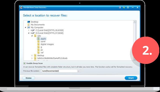 wondershare data recovery img2