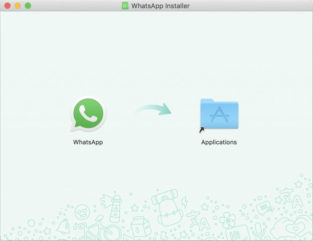 Drag WhatsApp to Applications folder