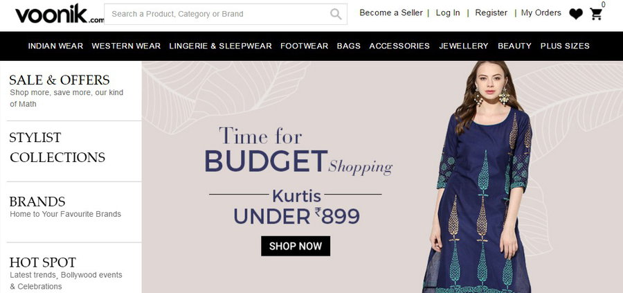 Top five fashion online shopping websites in india for Best online store websites