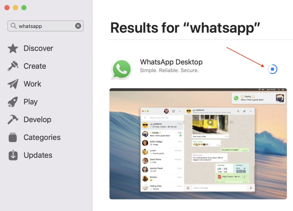 WhatsApp Desktop Download Progress