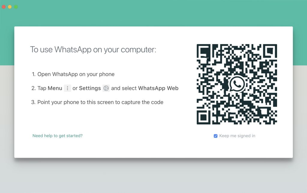 Scan WhatsApp Desktop QR Code