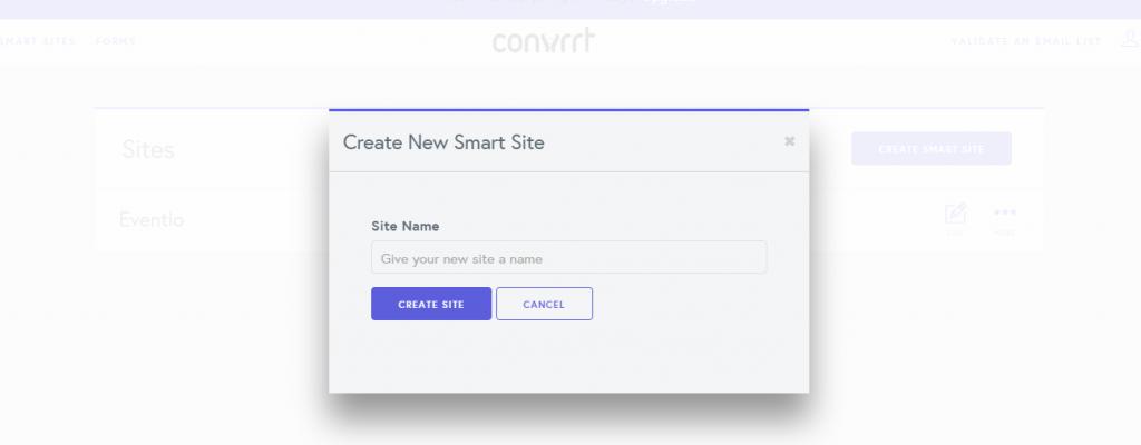 Convrrt create site