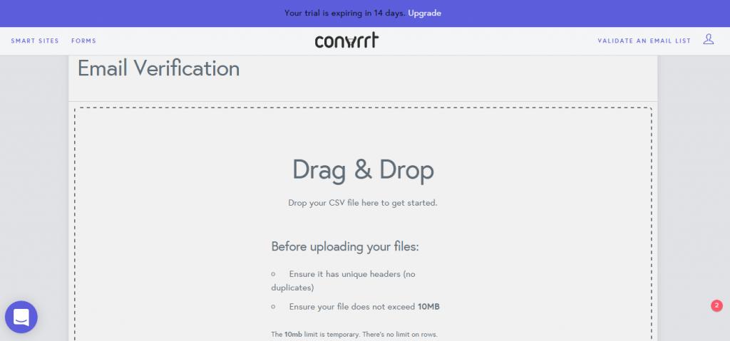 Convrrt drag drop