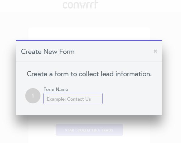 Convrrt new form