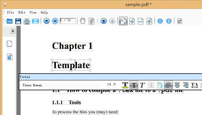 Edit pdf pages