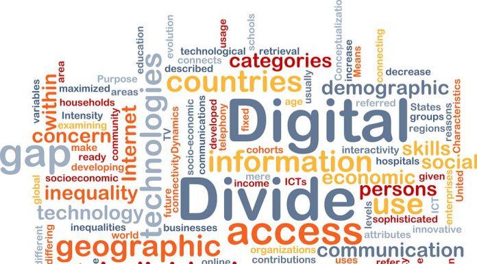 Digital divide concept
