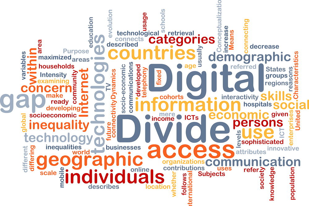 Digital divide concept - bridging the digital divide in education