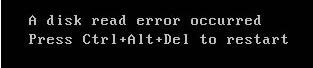 A disk read error