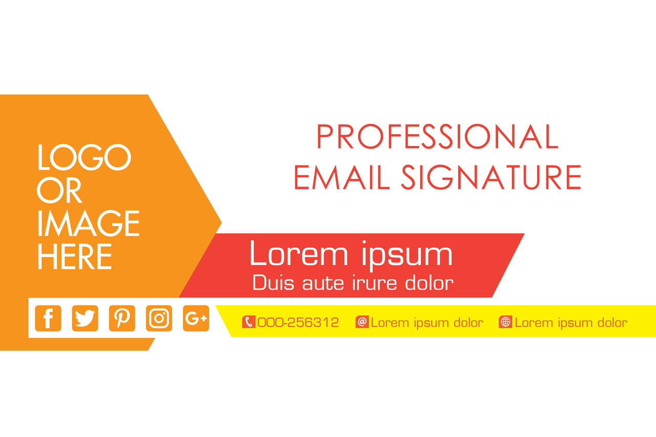 how to make professional email signature for gmail