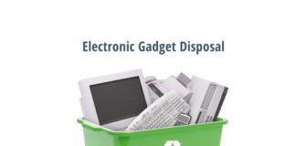 electronic gadget disposal