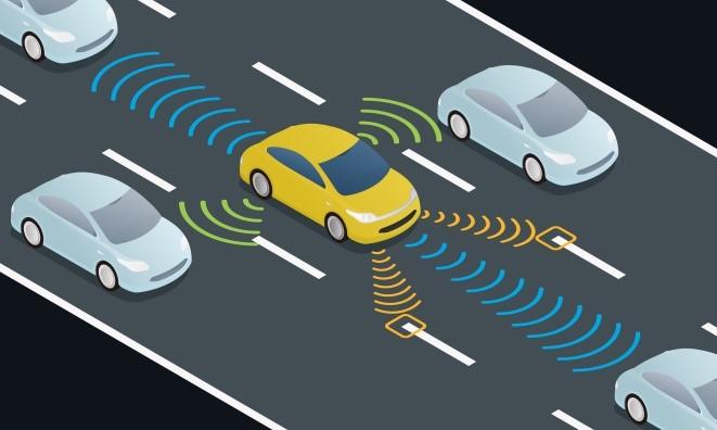 autonomous car working