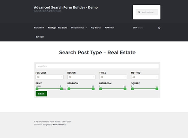 Advanced Search Form Builder WordPress Plugin