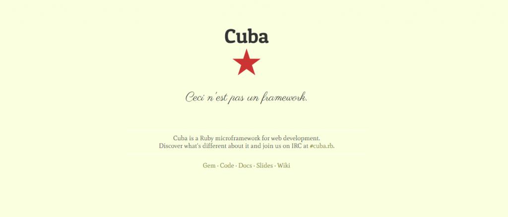 Cuba Ruby Framework