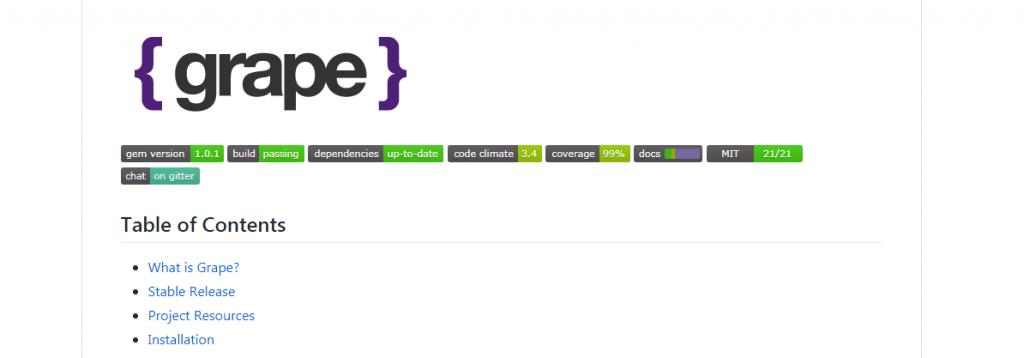 Grape Ruby Framework