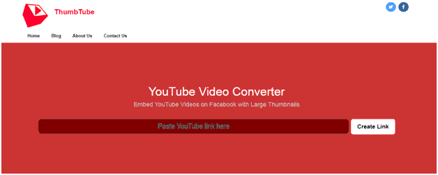 yt2fb thumbtube enter video url