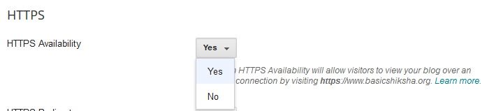 Enable https availability YES