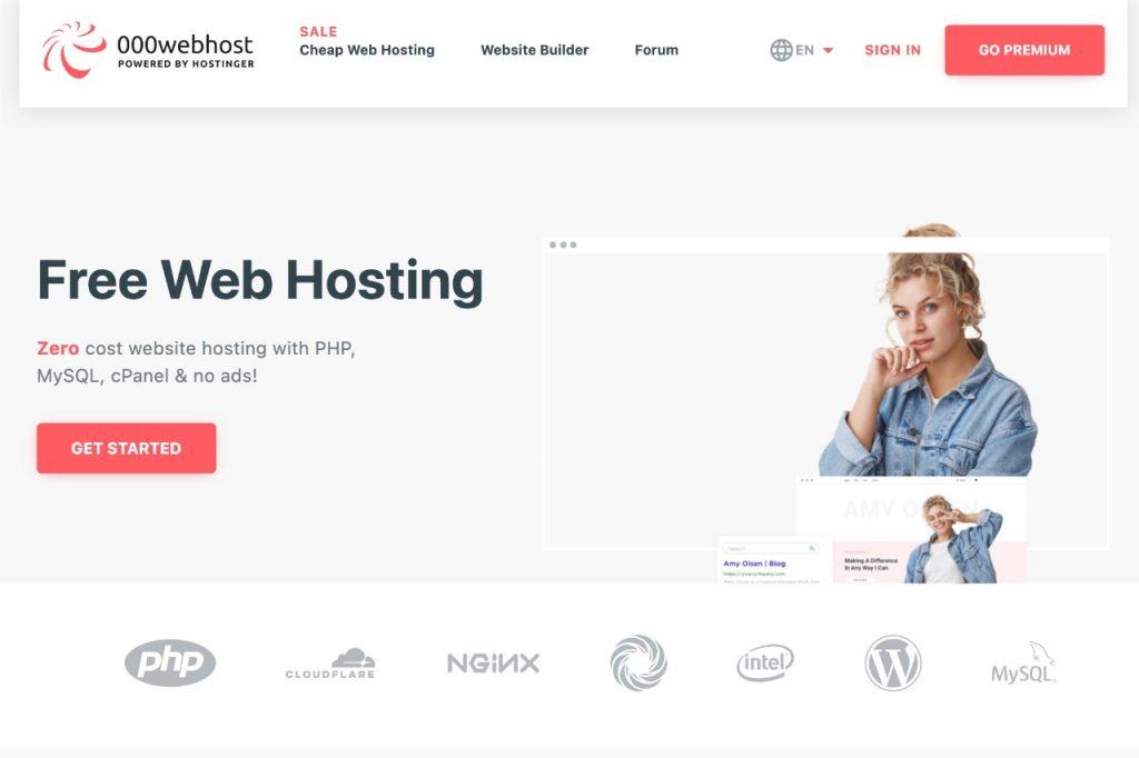 000webhost A free WordPress hosting