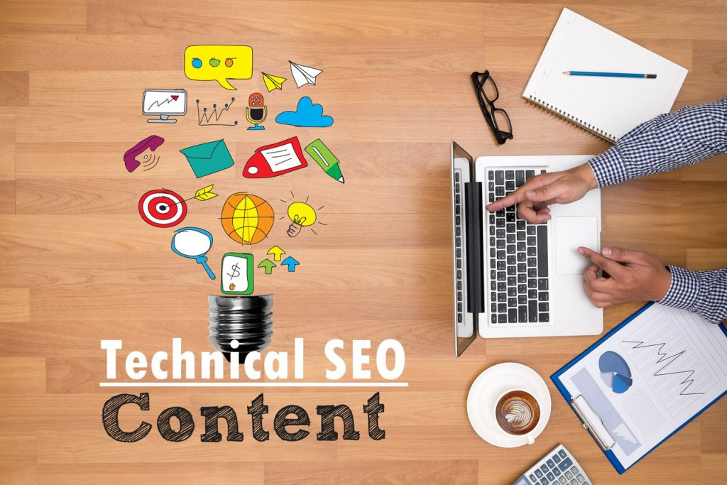 Manage technical SEO and content marketing