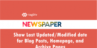TagDiv Newspaper WordPress Theme Show Last Updated Modified Date