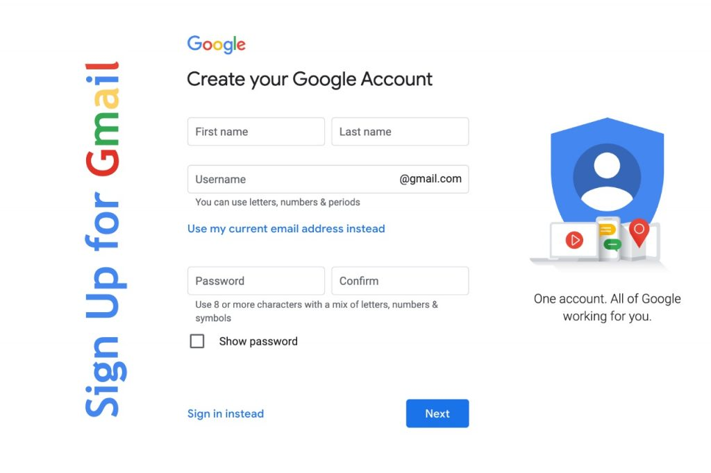 Sign up for Gmail