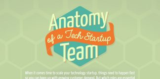 Infographic Anatomy of a Tech Startup Team