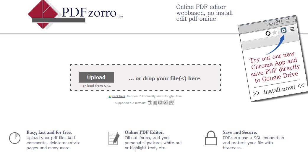 pdfzorro- edit pdf online