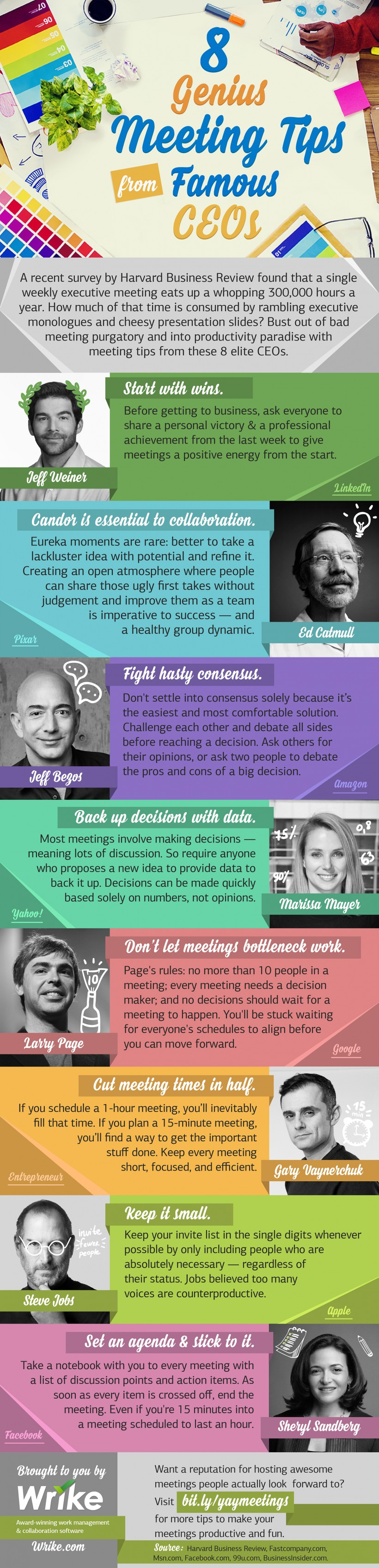 8 Genius Meeting Tips from Famous CEOs