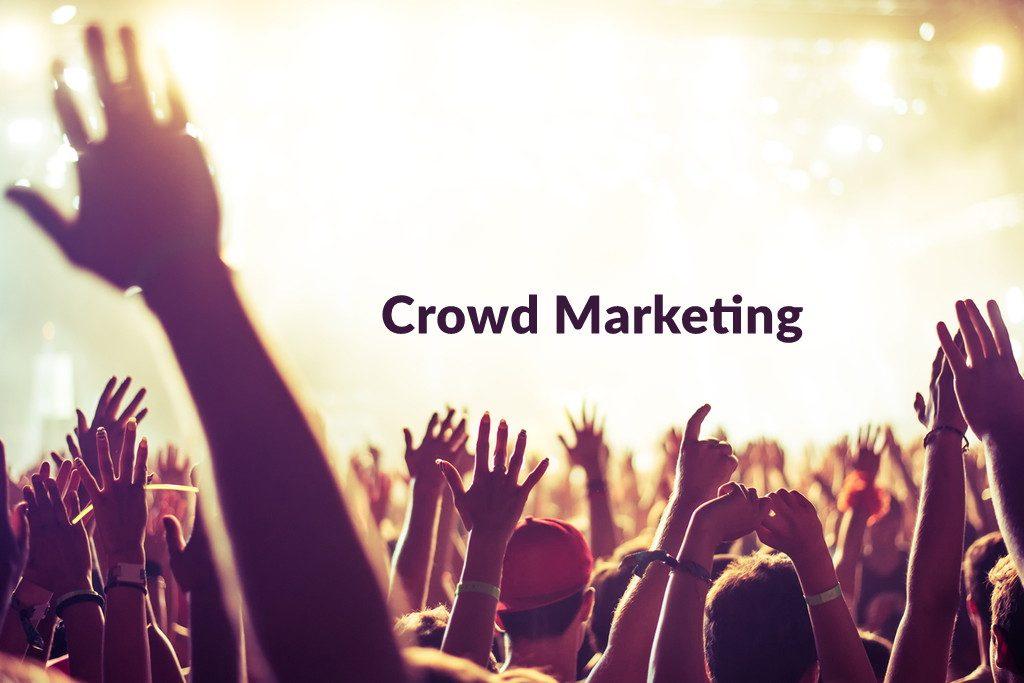 Crowd Marketing SEO Concept