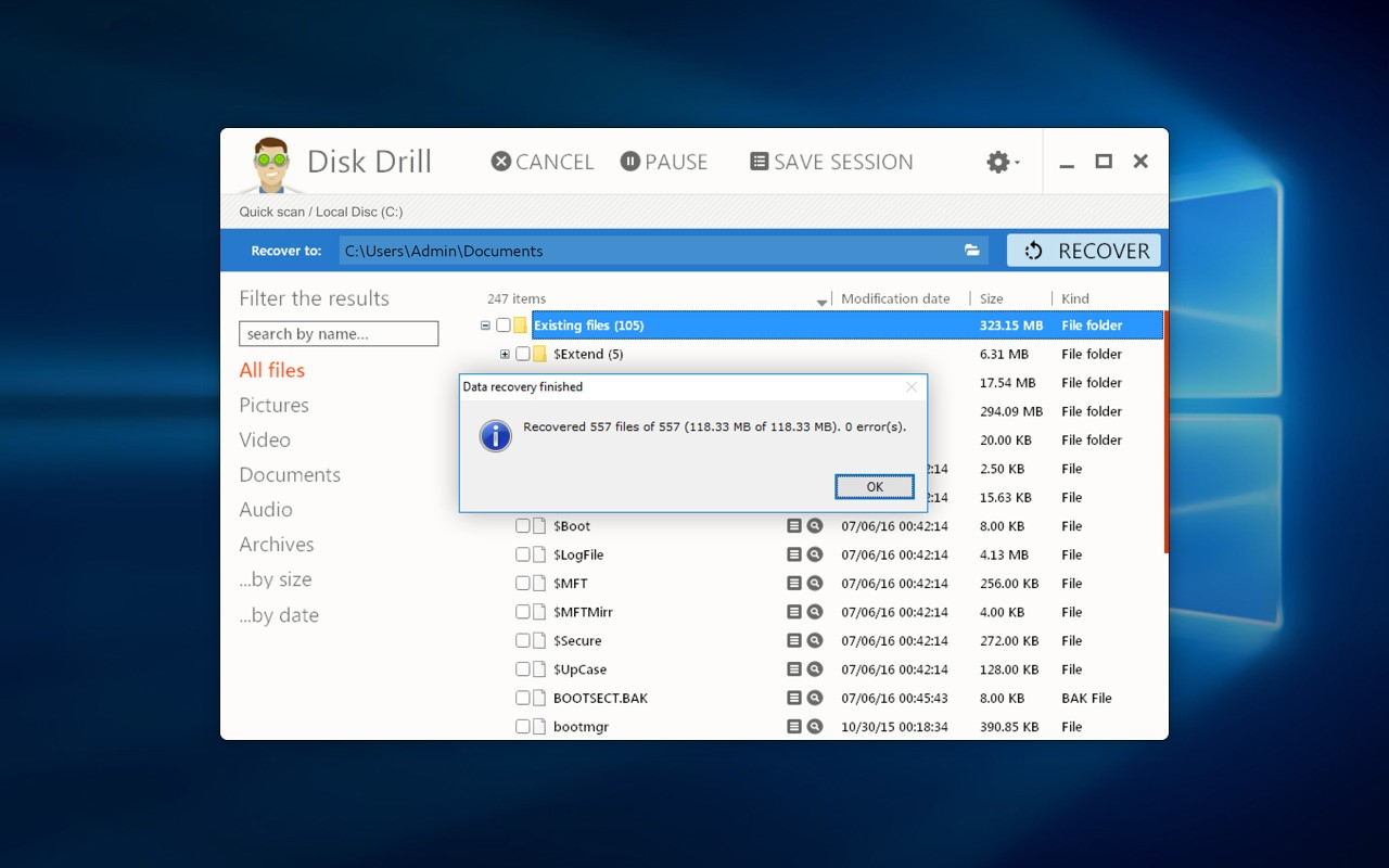 Disk drill recover word document
