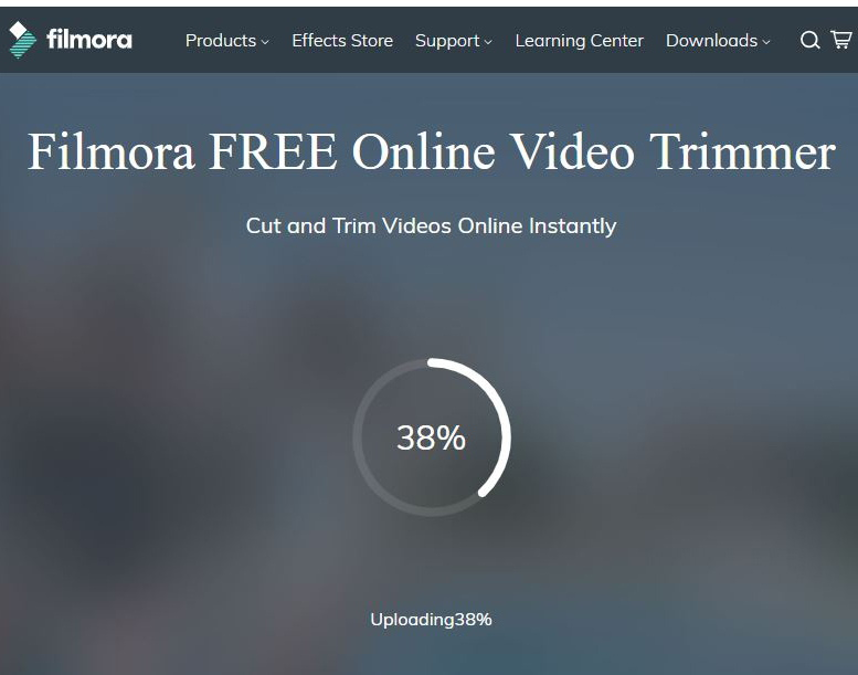 Filmora free online video trimmer