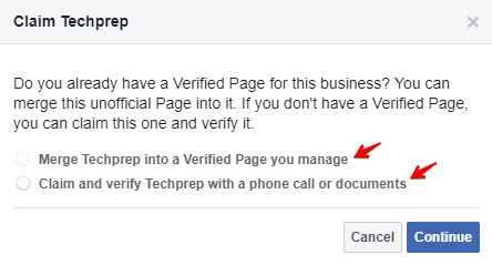 Claim a Facebook Places page for your business