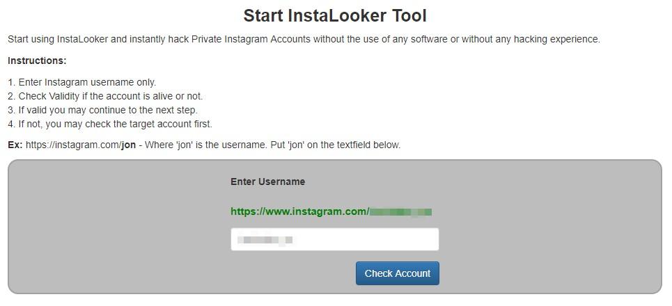 Start Instalooker tool
