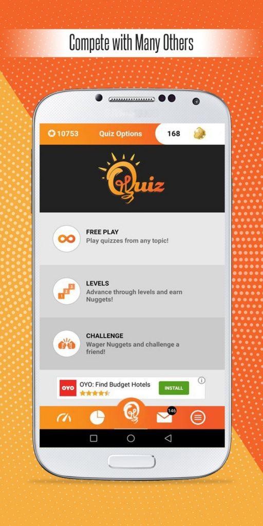 Edutainment quiz pursuit compete