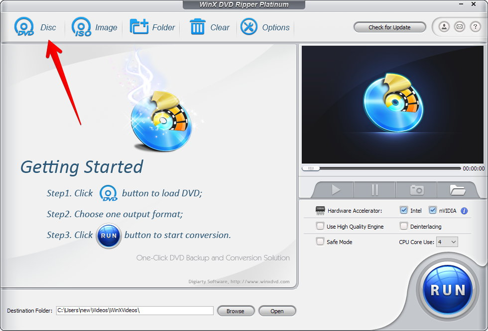 winx dvd ripper getting started