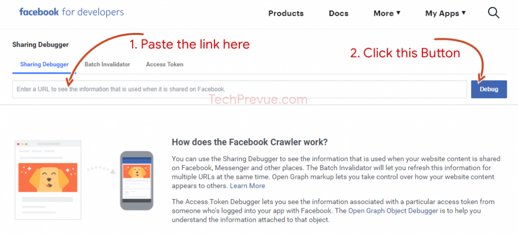 Facebook Sharing Debugger