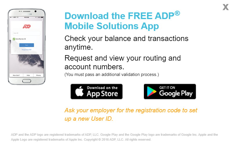 Free ADP Mobile Solutions app