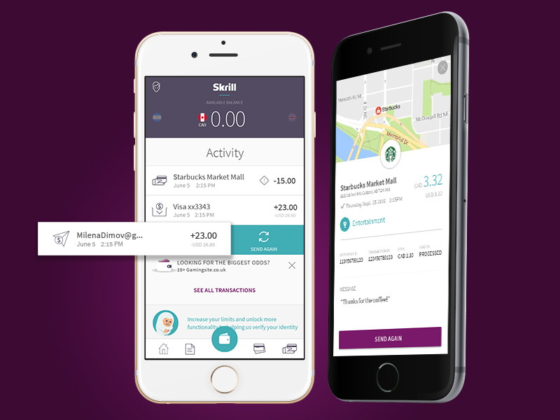 Accepting mobile payments with Skrill