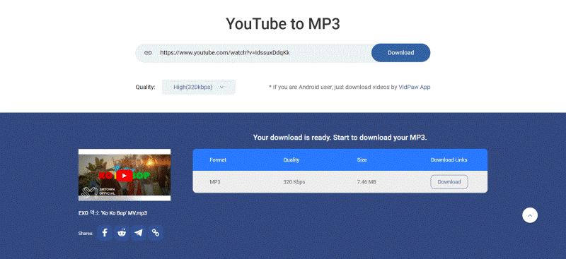 Vidpaw youtube to mp3 converter