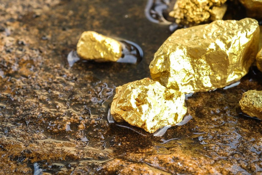 Gold ores