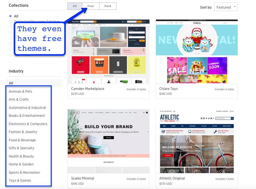 Use a website builder