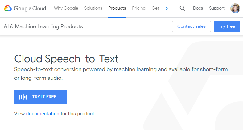 Google Cloud Speech-to-Text