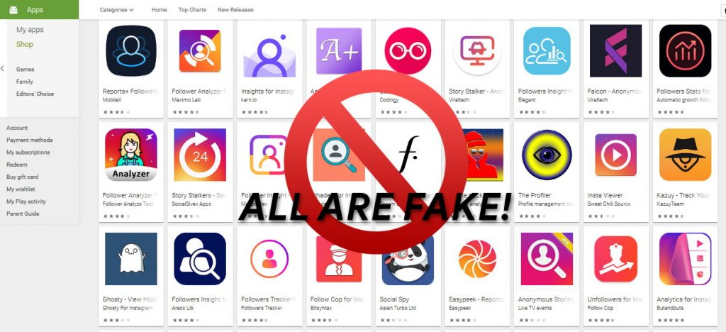 Instagram stalker apps are fake