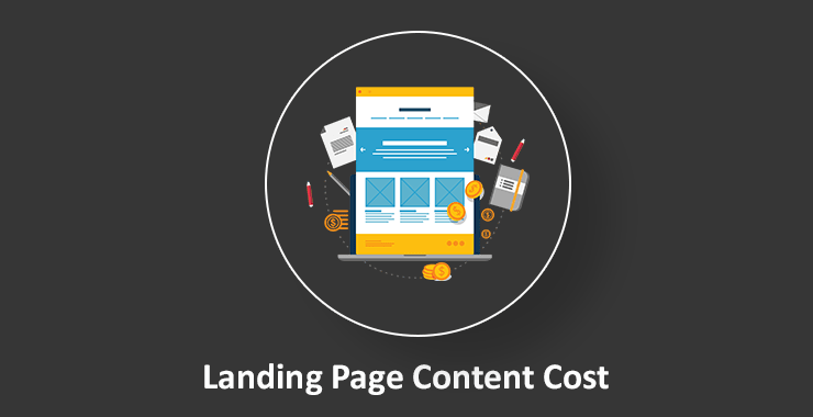 Landing page content cost