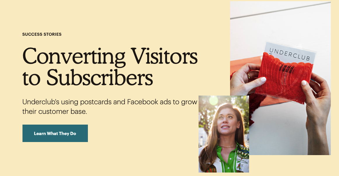 Converting Visitor to Subscribers