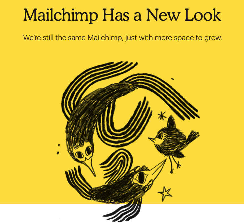 MailChimp has a new look