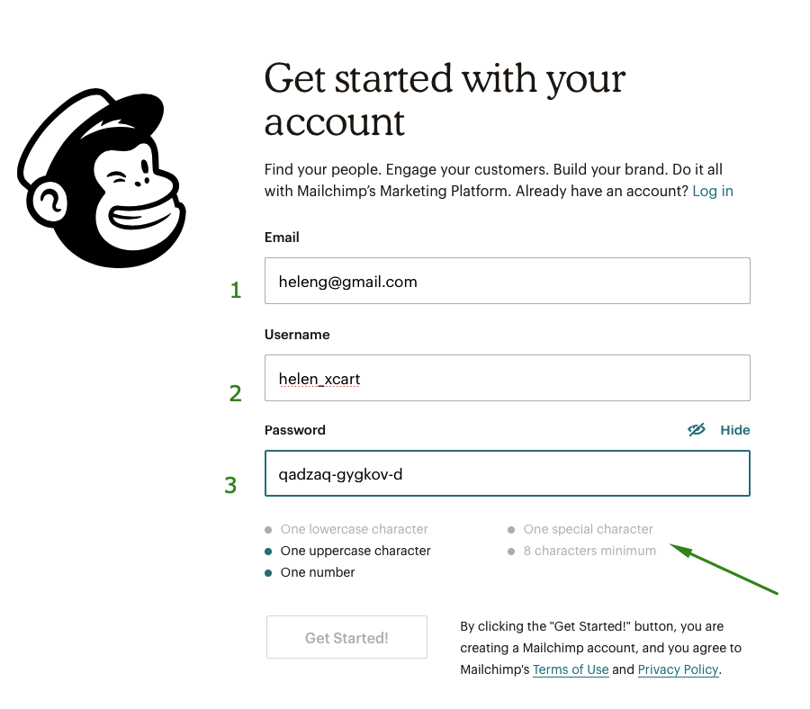 Get started with your account