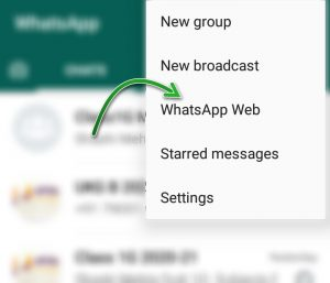 WhatsApp Web Log out through Android phone