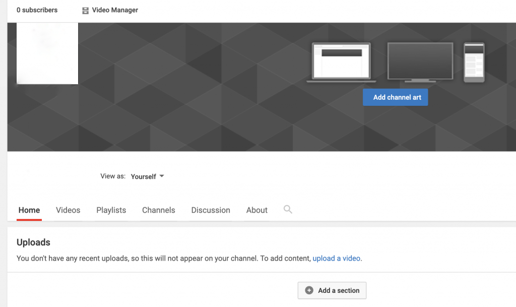 Add channel art to your YouTube channel