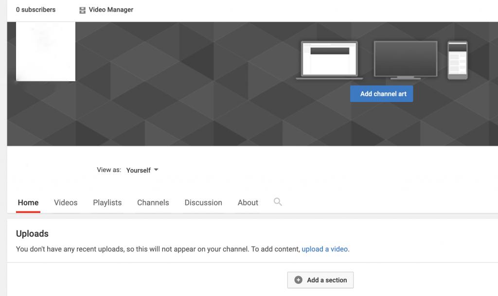 أضف صورة القناة إلى قناتك على YouTube