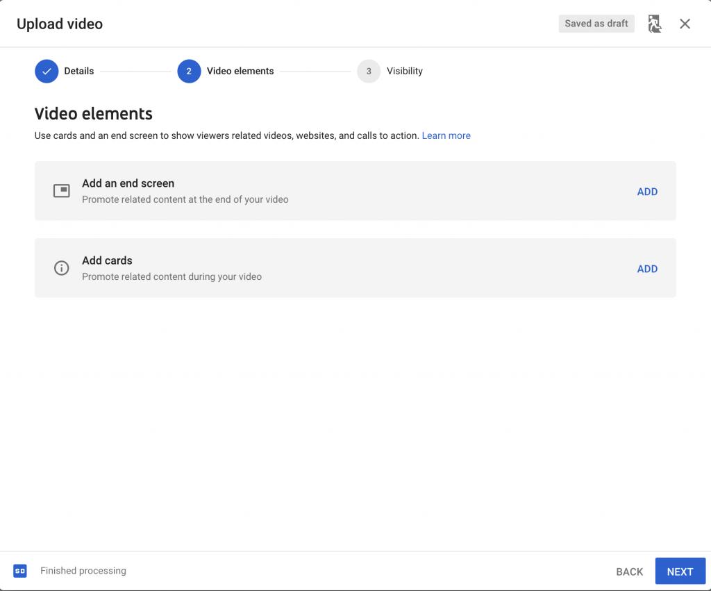 أضف عناصر فيديو YouTube للترويج لمقاطع الفيديو ذات الصلة
